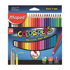 Lápis de Cor Maped Color Peps 4mm com 24 Unidades