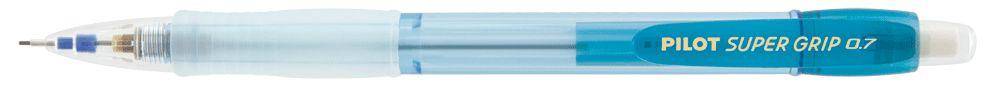 Lapiseira Pilot 0.7mm Super Grip Neon Azul Claro