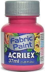 Tinta de Tecido Acrilex Rosa Escuro 37ML