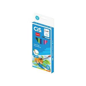 Lápis de Cor Cis Nataraj Aquarelável com 12 Unidades