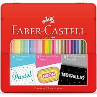 Lápis de Cor Faber Castell Pastel/Neon/Metallic 24 unidades