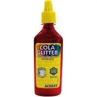 Cola com Glitter Acrilex Vermelho 23G