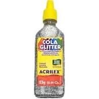 Cola com Glitter Acrilex Prata 23G