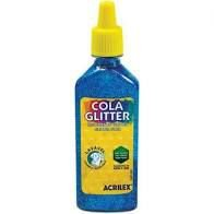 Cola com Glitter Acrilex Azul 23G