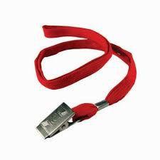 Cordão para Crachá Kit Vermelho