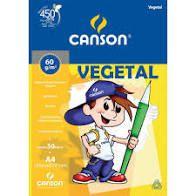 Vegetal Bloco A4 60G Canson 50 folhas