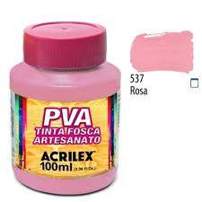 Tinta Pva Acrilex Fosca Rosa 100Ml