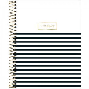 Caderno Tilibra 1X1 West Village College Listras 80 folhas