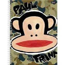 Caderno Foroni 1X1 Paul Frank Espiral 96 folhas