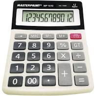 Calculadora Masterprint Mp 1010 12 Dígitos
