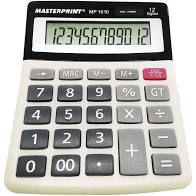 Calculadora Masterprint Mp 1010 12 Dígitos
