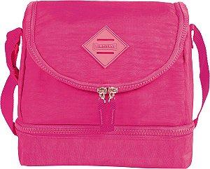 Lancheira Sestini 2 Divisórias Crinkle Pink