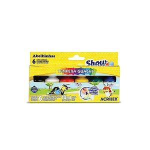 Guache Acrilex Show Color com 6 Unidades 18ML