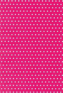Papel Dupla Face Poa Medio Rosa/Bco Premiatta 48x66cm
