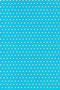 Papel Dupla Face Poa Medio Azul/Bco Premiatta 48x66cm
