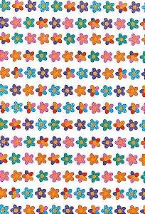 Papel Dupla Face Flores Coloridas Premiatta 66x48cm