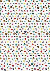 Papel Dupla Face Estrela Colorida Premiatta 66x48cm