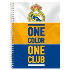 Caderno Foroni 1X1 Real Madrid Espiral One Color 96 folhas