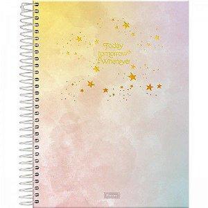 Caderno Foroni 1X1 College Tie Dye 80 folhas