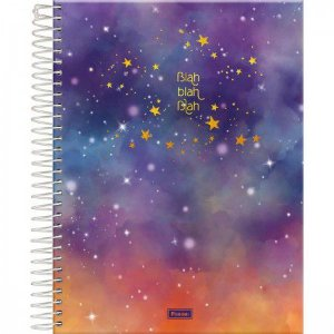Caderno Foroni 1X1 College Tie Dye 80 folhas
