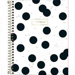 Caderno Tilibra 1X1 West Village College Bolas 80 folhas