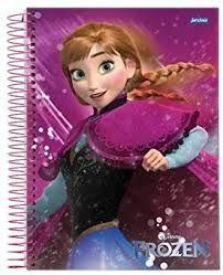 Caderno Jandaia 1X1 Frozen Espiral 96 folhas
