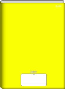 Caderno Jandaia 1/4 Stiff Amarelo Brochura 48 folhas
