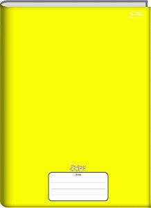 Caderno Jandaia 1/4 Stiff Amarelo Brochura 96 folhas