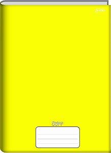 Caderno Jandaia 1x1 Stiff Amarelo Brochura 96 folhas