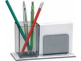 Porta Lápis/Lembrete Acrimet Fumê