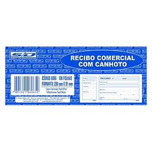 Bloco de Recibo Comercial São Domingos com Canhoto 198X88mm