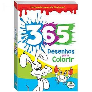 365 Desenhos para Colorir Azul - Todo Livro