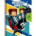 Caderno Foroni 1X1 Authentic Games Espiral 80 folhas