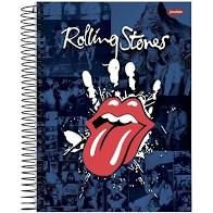 Caderno Jandaia 1X1 Rolling Stones Espiral 96 folhas