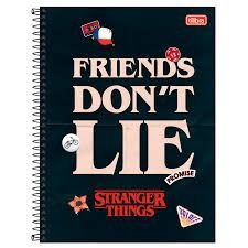 Caderno Jandaia 1X1 Stranger Things Espiral 96 folhas