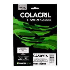 Etiqueta Colacril A5 Ca50916 140 por Folha 9mmx16mm com 12 f