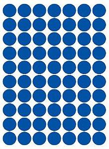 Etiqueta Colacril Bola 13mm Azul 420 Unidades