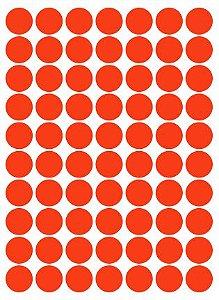 Etiqueta Colacril Bola 13mm Vermelho Fluo 420 Unidades