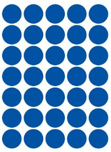 Etiqueta Colacril Bola 19mm Azul 210 Unidades