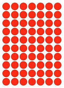 Etiqueta Colacril Bola 13mm Vermelho 420 Unidades
