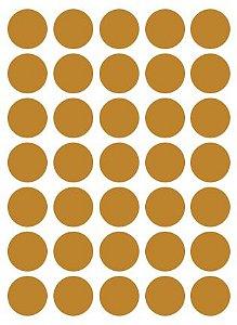 Etiqueta Colacril Bola 19mm Ouro 210 Unidades