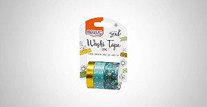Washi Tape Brw Shine Flor Verde 3 Rolos de 3M