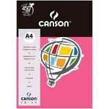 Papel A4 180G Canson Rosa Escuro 10 folhas