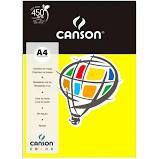 Papel A4 180G Canson Amarelo Canário 10 folhas