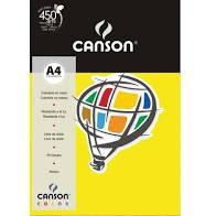 Papel A4 180G Canson Amarelo 10 folhas