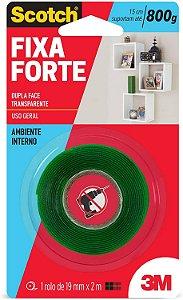 Fita 3M Dupla Face Fixa Forte Silicone 800G 19mmx2M