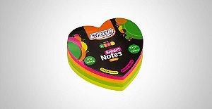 Bloco Adesivo Brw Love Coração Neon 70mmx70mm 200 folhas