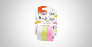 Washi Tape Brw Glossy Bco/Am/Pink 3 Rolos 15mmx3M