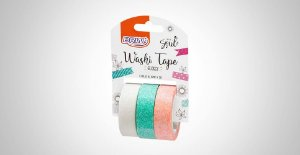 Washi Tape Brw Glossy Bco/Vde/Lj 3 Rolos 15mmx3M