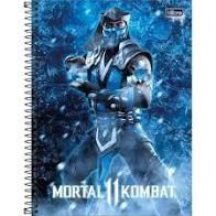 Caderno Tilibra 10X1 Mortal Kombat Sub-Zero 160 folhas
